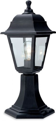 Firstlight 8347BK Black Resin Oslo Lantern - Pillar